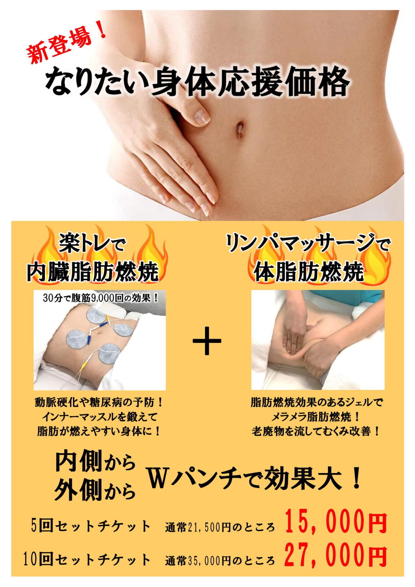 なりたい身体応援価格 新発田市のフィットネス ピュアオレンジ